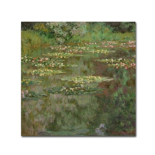 Claude Monet 'Waterlilies (The Water Lily Pond)' Canvas Art