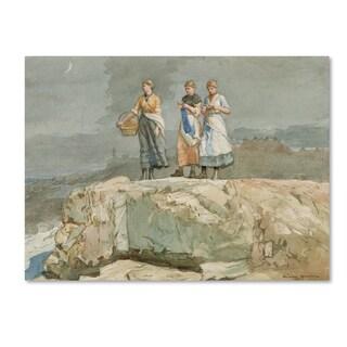 Winslow Homer 'The Cliffs' Canvas Art
