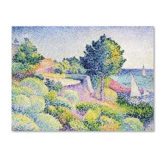 Henri-Edmond Cross 'La Route sur la Cote' Canvas Art