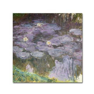 Claude Monet 'Waterlilies' Canvas Art