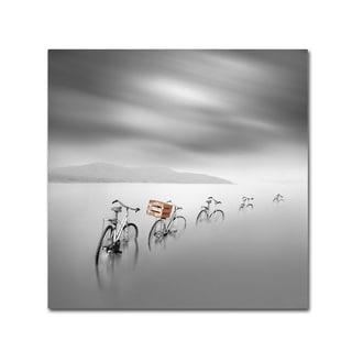 Moises Levy 'My Way Naranja' Canvas Art