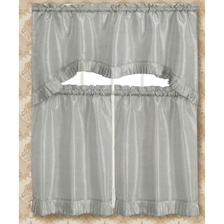RT Designers Collection Bermuda Ruffle Kitchen Curtain Tier Set (More options available)