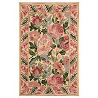 Herat Oriental Indo Hand-woven Needlestitch Wool Rug (2' x 3')