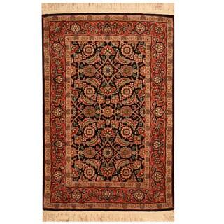 Herat Oriental Indo Hand-knotted Tabriz Wool Rug (2' x 3'1)
