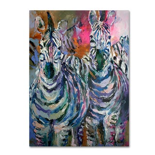 Richard Wallich 'Art Zebra' Canvas Art