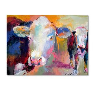 Richard Wallich 'Art Cows' Canvas Art