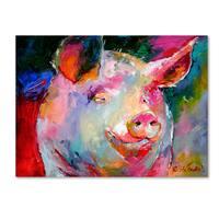 Richard Wallich 'Art Pig 1' Canvas Art