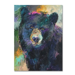 Richard Wallich 'Art Bear' Canvas Art