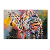 Richard Wallich 'Zebras' Canvas Art
