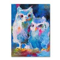 Richard Wallich 'Owls' Canvas Art
