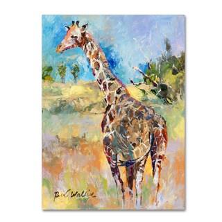 Richard Wallich 'Giraffe' Canvas Art