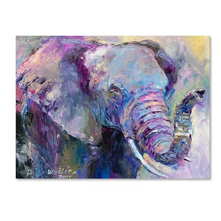 Richard Wallich Blue Elephant Canvas Art