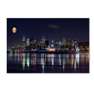 Yuppidu 'Montreal Night' Canvas Art