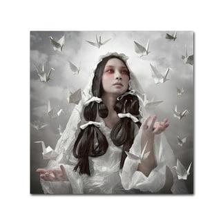 Kiyo Murakami 'Goddess Of Origami' Canvas Art