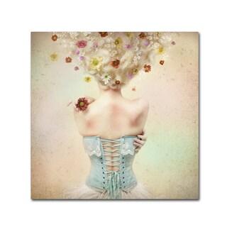 Kiyo Murakami 'Girl Of The Flower Garden' Canvas Art
