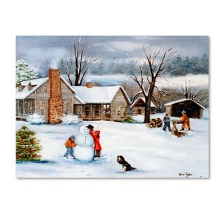 Arie Reinhardt Taylor 'The Snowman' Canvas Art