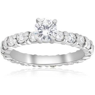14k White Gold 2 ct TDW Diamond Eternity Engagement Ring 14K White Gold (I-J, I2-I3)