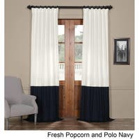 Exclusive Fabrics Horizontal Colorblock Panama Curtain Panel
