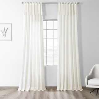 Link to Exclusive Fabrics Solid Cotton Tie-Top Single Curtain Panel Similar Items in Window Treatments