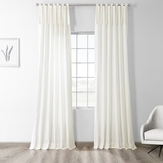 Exclusive Fabrics Solid Cotton Tie-top Single Curtain Panel