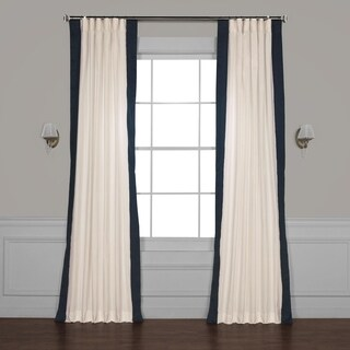 Exclusive Fabrics Vertical Colorblock Panama Curtain