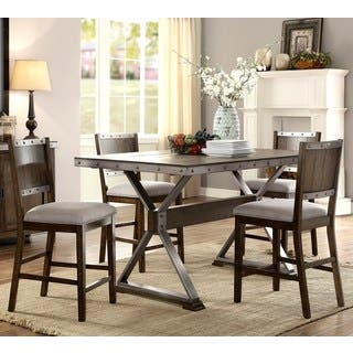Wine Barrel Industrial Design Counter Height Dining Set|https://ak1.ostkcdn.com/images/products/16959736/P23246493.jpg?impolicy=medium