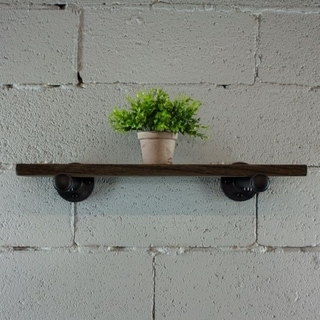 "Furniture Pipeline Somerville Farmhouse Industrial Decorative 18"", 24"" & 30"" Wall Shelf"