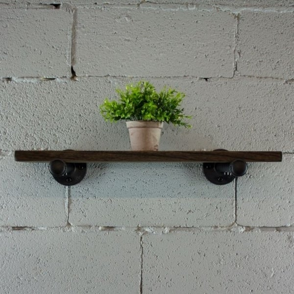 "Furniture Pipeline Somerville Farmhouse Industrial Decorative 18"", 24"" & 30"" Wall Shelf"