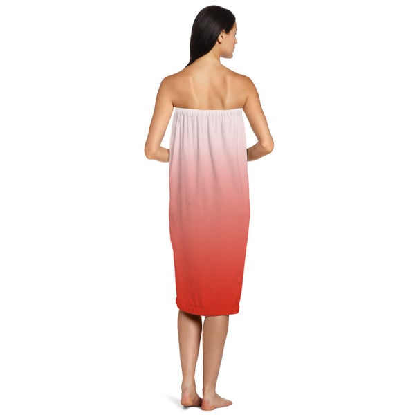 Coral Ombre Shower Wrap