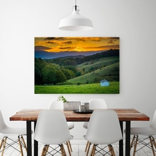 Noir Gallery Moses Cone Park Sunset on the Blue Ridge Parkway in North Carolina Photo Print on Metal.