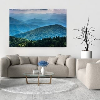 Noir Gallery Blue Ridge Mountain Layers in North Carolina Photo Print on Metal.