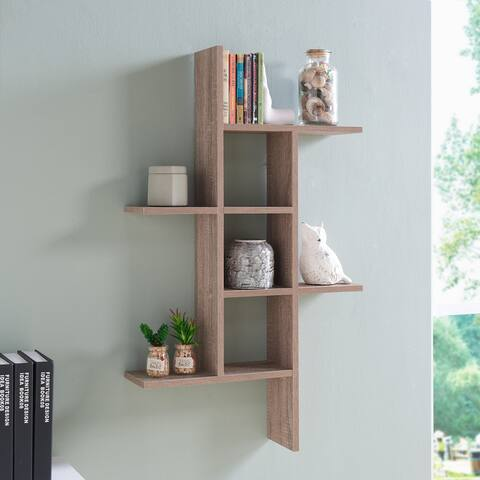 Danya B. Cantilever Wall Shelf - Weathered Oak