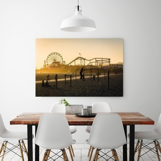 Noir Gallery Muscle Beach in Santa Monica, California Photo Print on Metal.