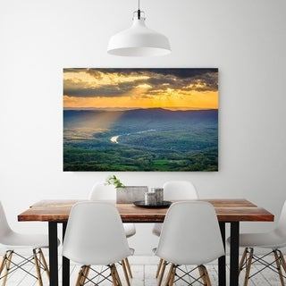 Noir Gallery Sunset from Skyline Drive in Shenandoah National Park Photo Print on Metal.