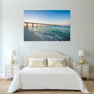 Noir Gallery Pier at Sunrise in Panama City Beach, Florida Photo Print on Metal.