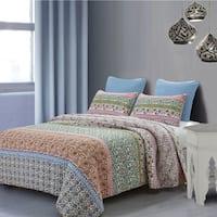 Susan Emma Baxi Boho Floral Reversible Quilt Set