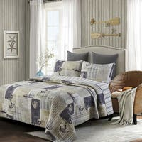 Susan Emma Sail Away Nautical Reversible Quilt Set