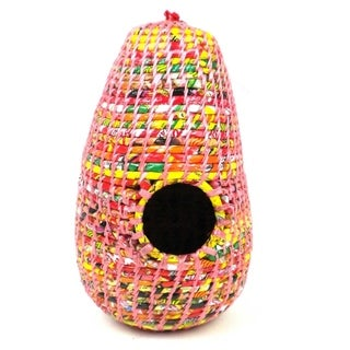 Upcycled Pink Wrapper Birdhouse (Nepal)