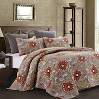 Susan Emma Aurora Reversible Floral Quilt Set