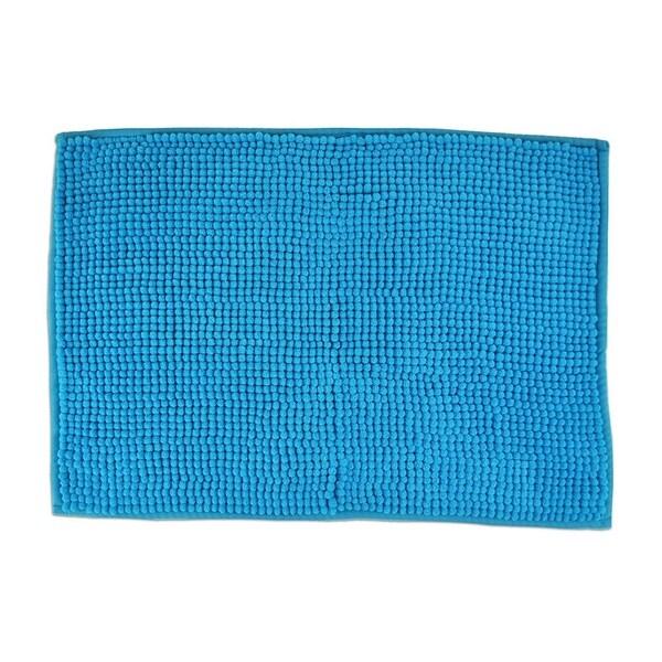 17x24-inch Neon Blue Popcorn Bath Rug