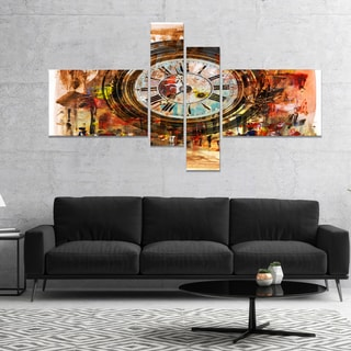 Designart 'People and Time Acrylic Painting' Abstract Canvas Artwork