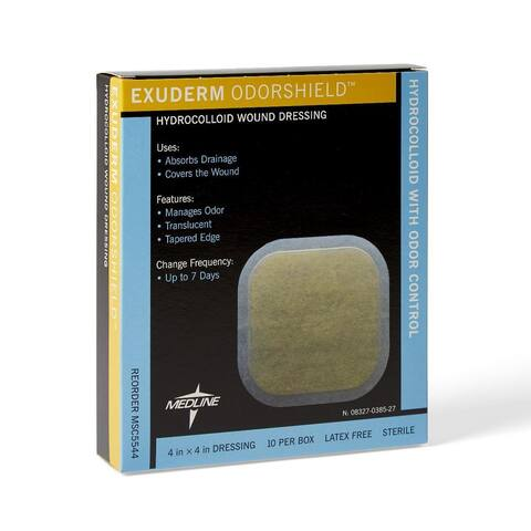 Medline Exuderm Odorshield 4 x 4-inch Hydrocolloid (Pack of 10)