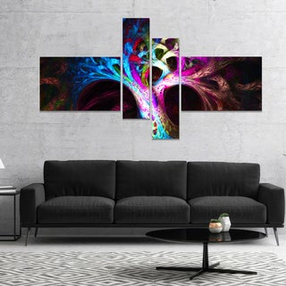 Designart 'Magical Multi color Psychedelic Tree' Abstract Canvas Art Print