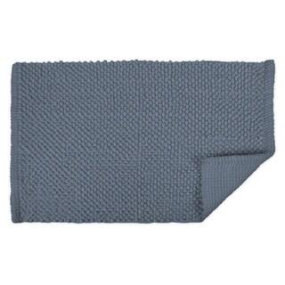 21x34-inch Stone Blue Popcorn Bath Rug