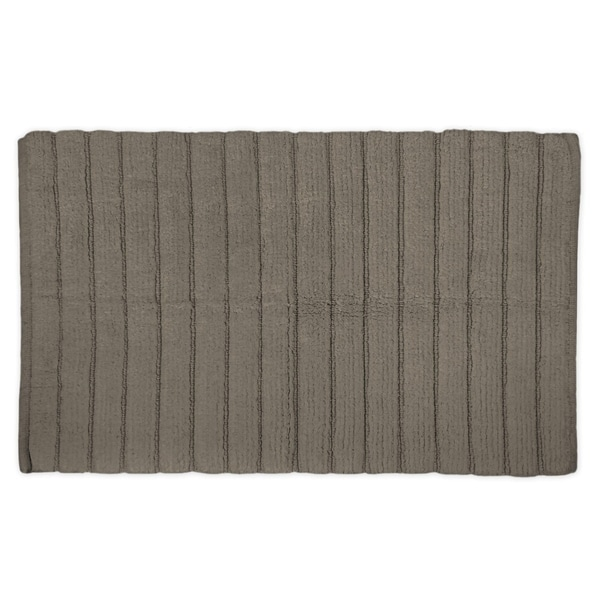 21x34-inch Cool Brown Ribbed Rug