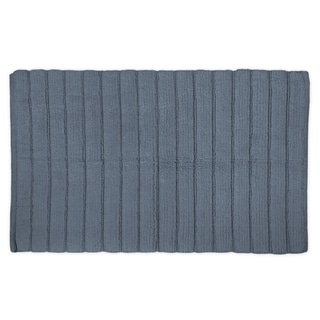 21x34-inch Stone Blue Ribbed Rug