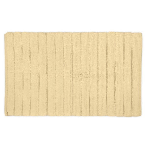 17x24-inch Cream Ribbed Bath Rug