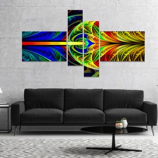 Designart 'Colorful Stained Glass Texture' Abstract Wall Art Canvas