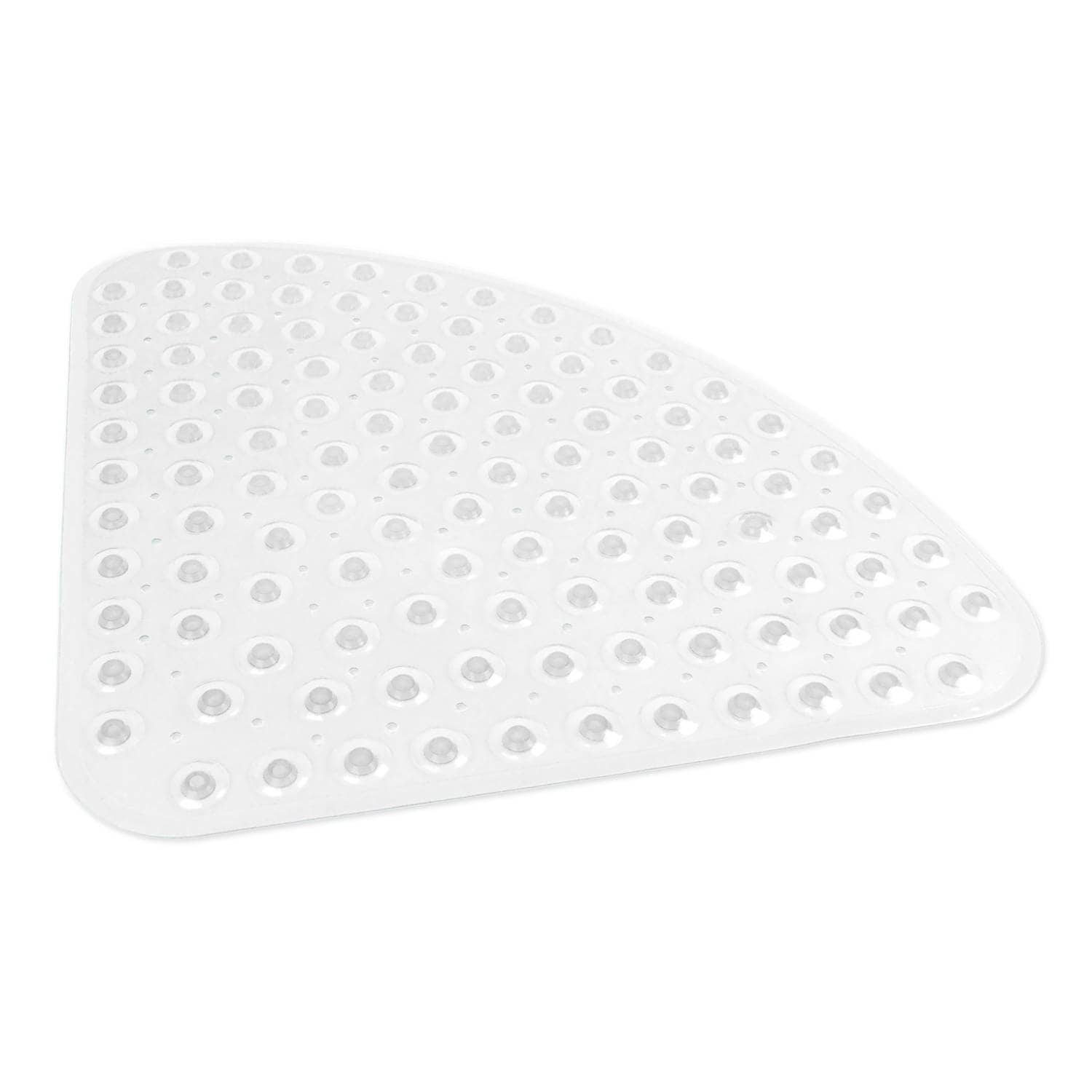 Round Vinyl Bath Mat (Clear), White (PVC, Solid Color)
