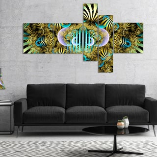 Designart 'Magical Fairy Pattern Brown' Abstract Art on Canvas